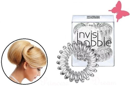 Invisibobble Transparent Spiral Haargummis Zopfhalter 3er Set