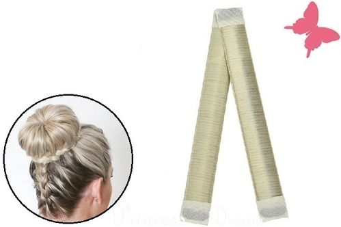 Donut Hair Bun Maker für Haarfrisuren Hair Styling Blond