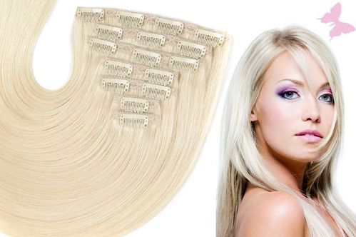 Clip in Extensions Echthaar Komplett Set
