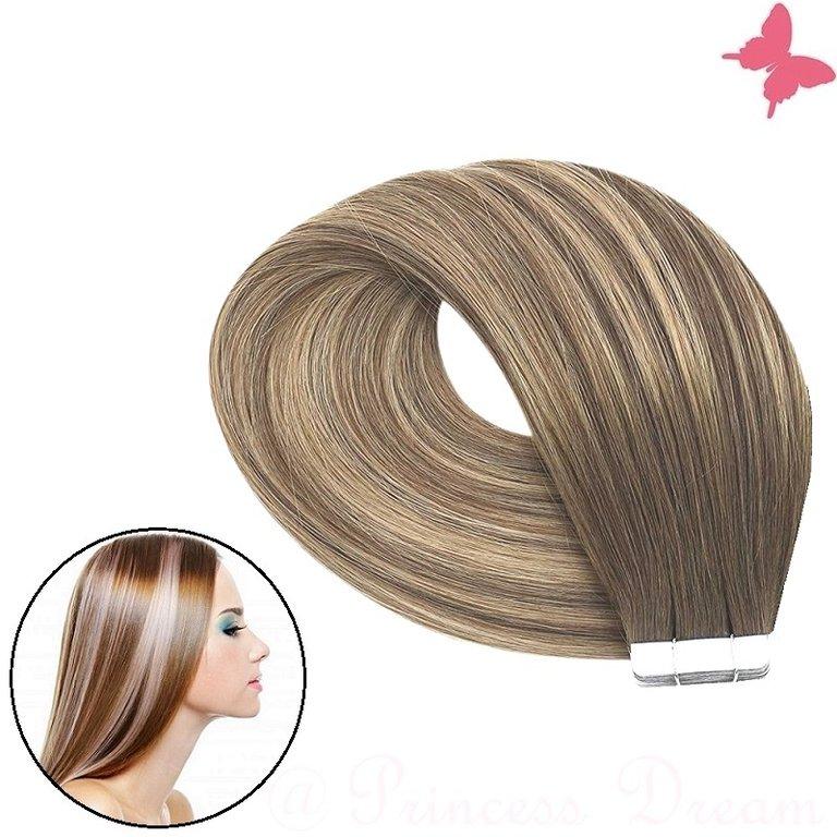 Frisuren dunkelblond mit strähnen