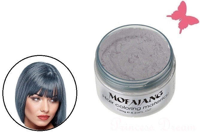 Haarstyling Mit Silber Farbigen Haarwachs Pomade Haarfärbung