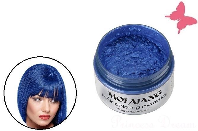 Haarwachs Blau Haare Einfach Stylen Und Färben Pomade Haarfärbung