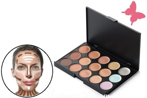 Concealer Palette Contouring Make-UP Set 15 Farben