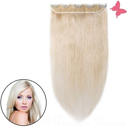 Clip in Extensions Tresse Echthaar mit 5 Clips 50 cm, #60
