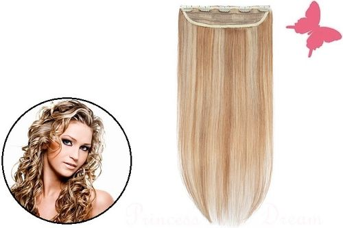 Clip in Extensions Tresse Echthaar mit 5 Clips 50 cm,  #12/613