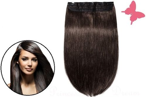 Clip in Extensions Tresse Echthaar mit 5 Clips 50 cm, # 2