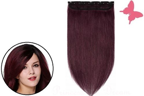 Clip in Extensions Tresse Echthaar mit 5 Clips 50 cm, #33