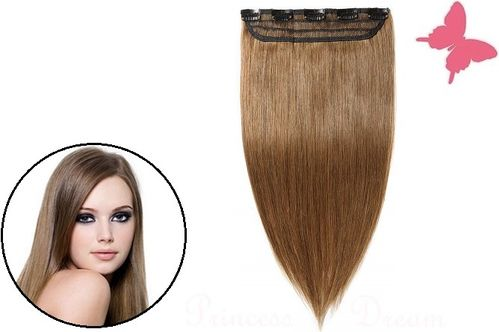 Clip in Extensions Tresse Echthaar mit 5 Clips 50 cm, #8